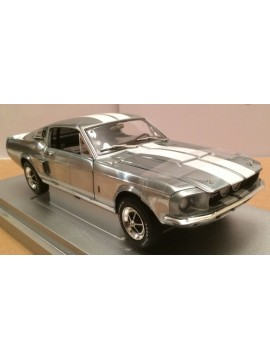 AMERICAN MUSCLE 1:18 1967 SHELBY MUSTANG GT-500<BR>CHROME POLISHED VERSION
